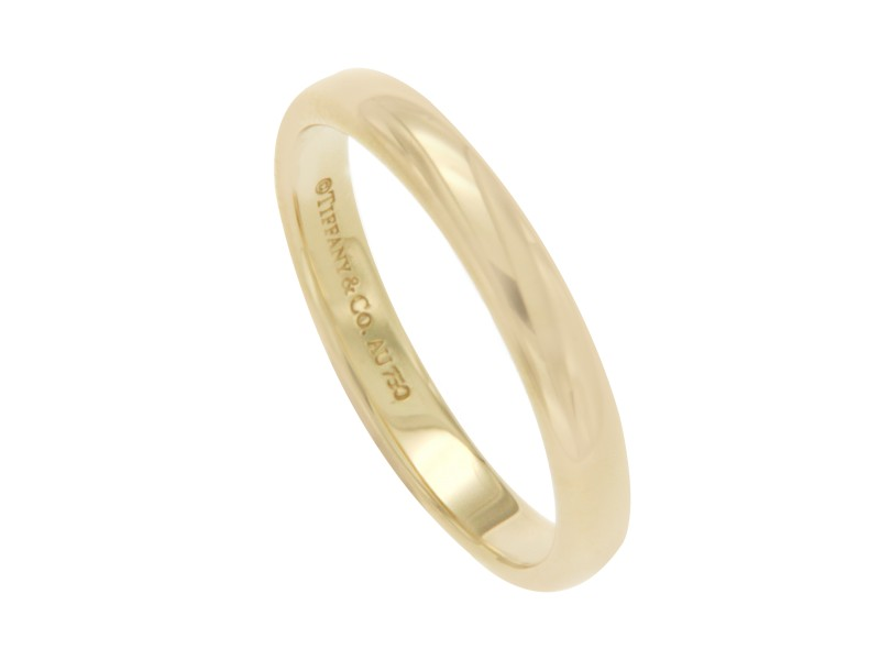 Tiffany and Co. 18K Yellow Gold Wedding Ring Size 12.5