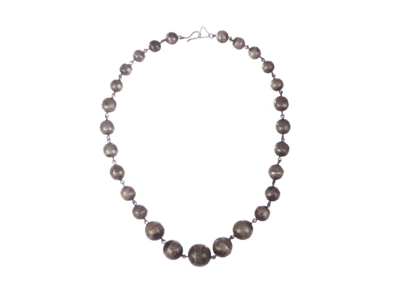 Art Deco Graduated Ball Bead Necklace