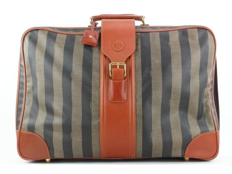 Fendi Large Pequin Stripe Suitcase Luggage Bag 119ff23