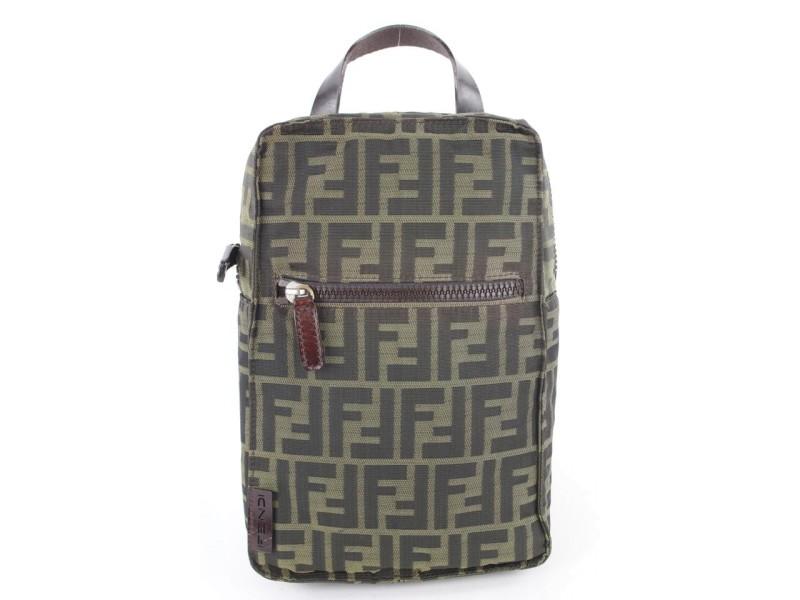 Fendi Brown Monogram FF Zucca Mini Backpack 265ff512