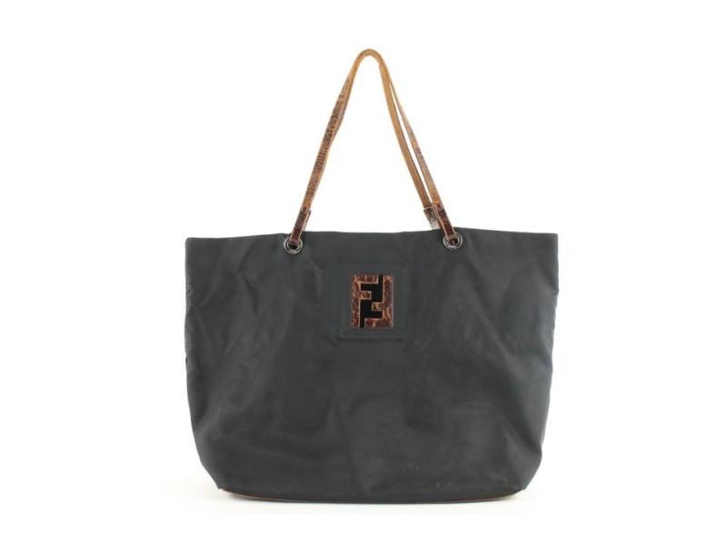 Fendi Black x Brown FF Tote bag 532ff38