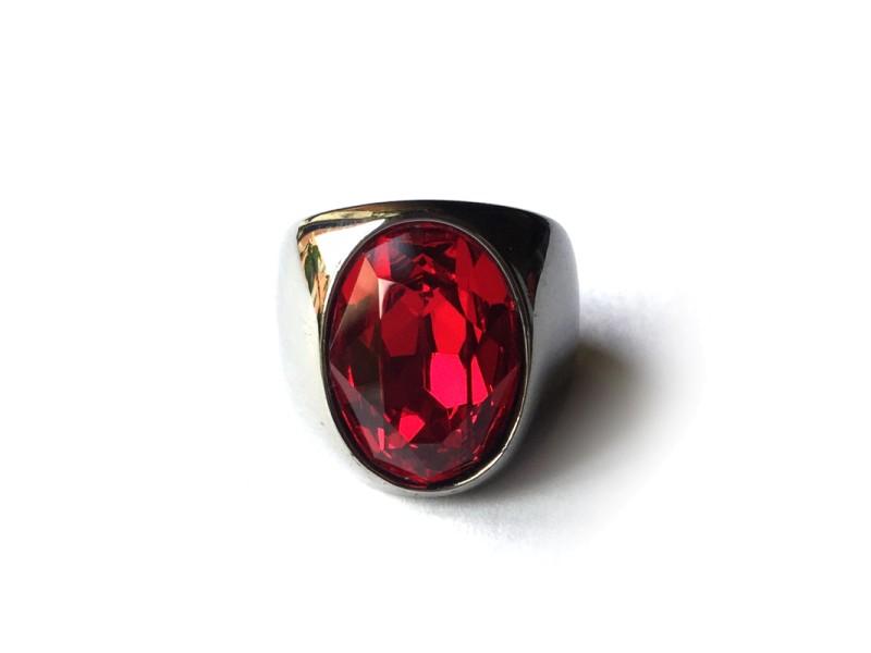 Red Crystal Swarovski Ring