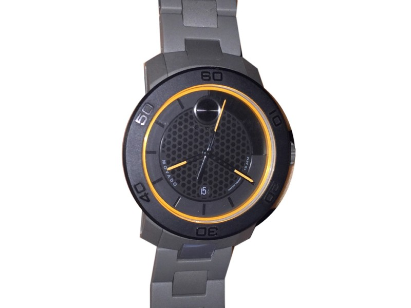Movado Mens Bold 3600098 Black Stainless Steel Swiss Quartz Watch