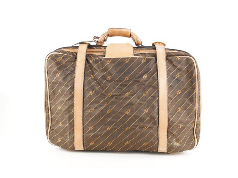 Gucci Monogram GG Stripe Luggage Suitcase 260ggs216