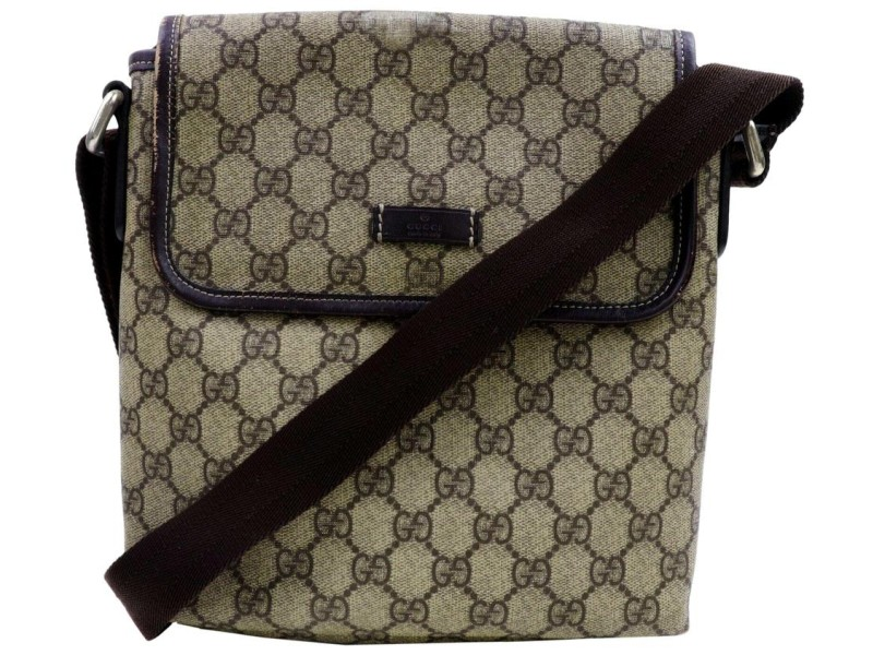 Gucci Crossbody Monogram 872359 Brown Gg Supreme Canvas Shoulder Bag
