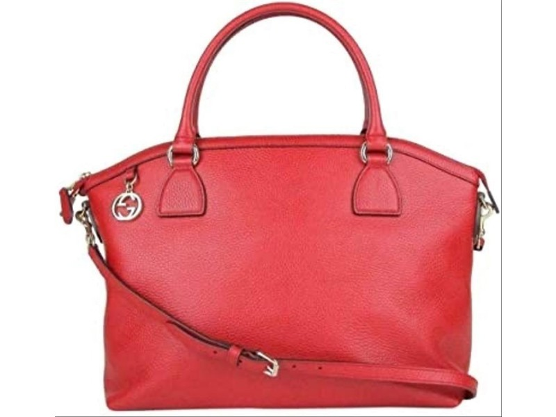 Gucci Dome Large Covertible 2way 1g82 Red Leather Tote
