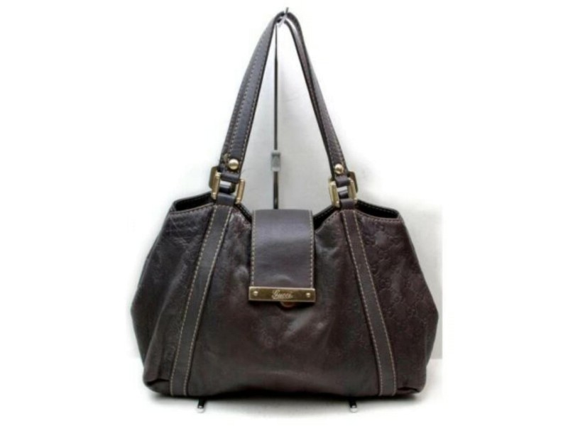 Gucci Hobo New Ladies Guccissima 872939 Brown Signature Leather Shoulder Bag