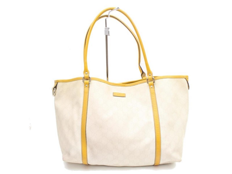 Gucci Monogram Gg Supreme Shopper 868072 White Coated Canvas Tote
