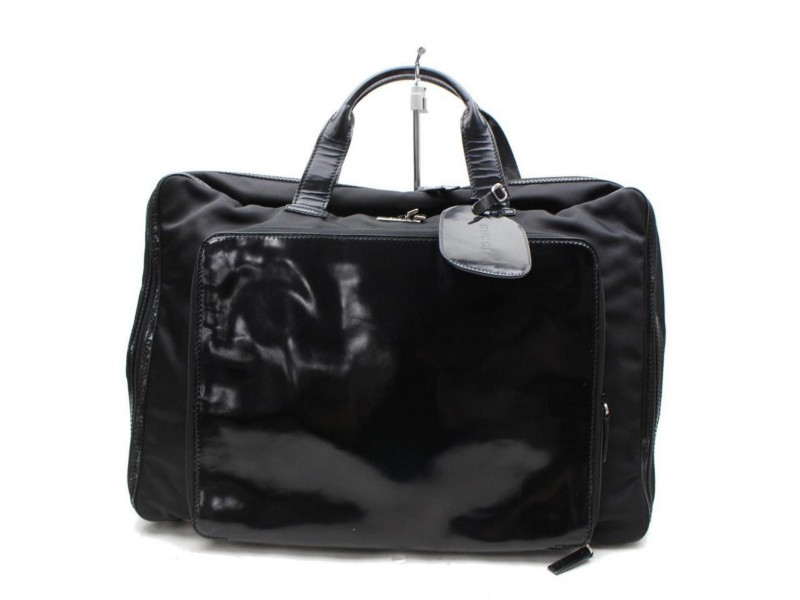Rare Suitcase 867675 Black Canvas Weekend/Travel Bag