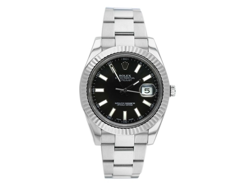 Rolex Datejust 41 White Gold/Steel Oyster Bracelet 126334 with Box