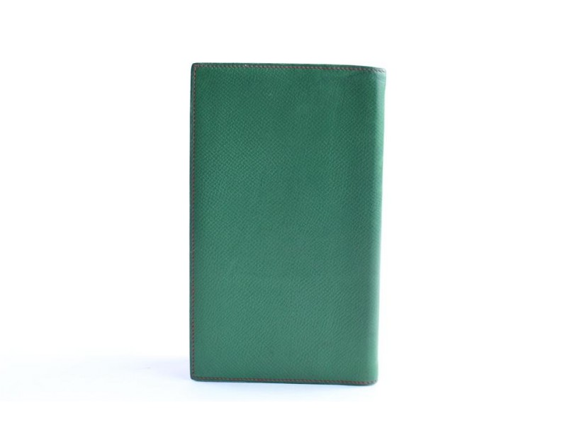 Hermès Bicolor Passport Or Agenda Cover 26hr0501 Green X Red Leather Clutch