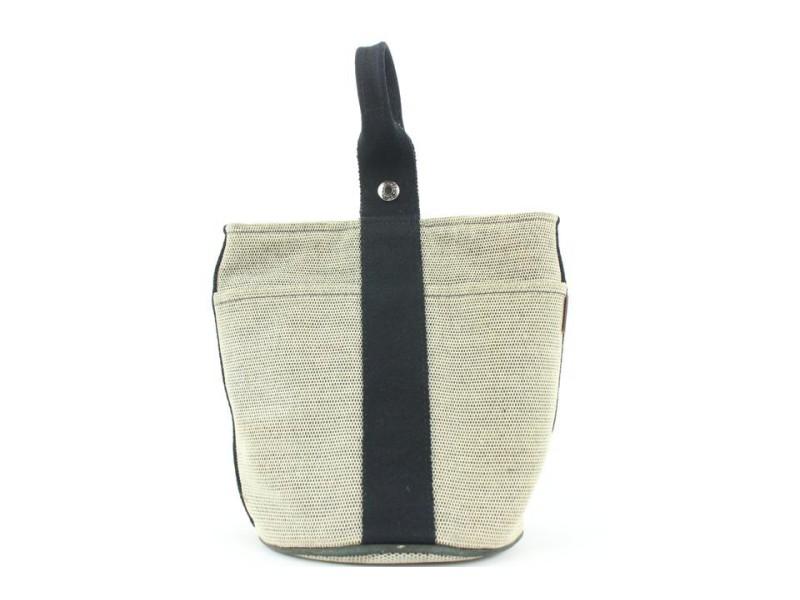 Hermès Navy Toile Saxo PM Bucket bag 613her316