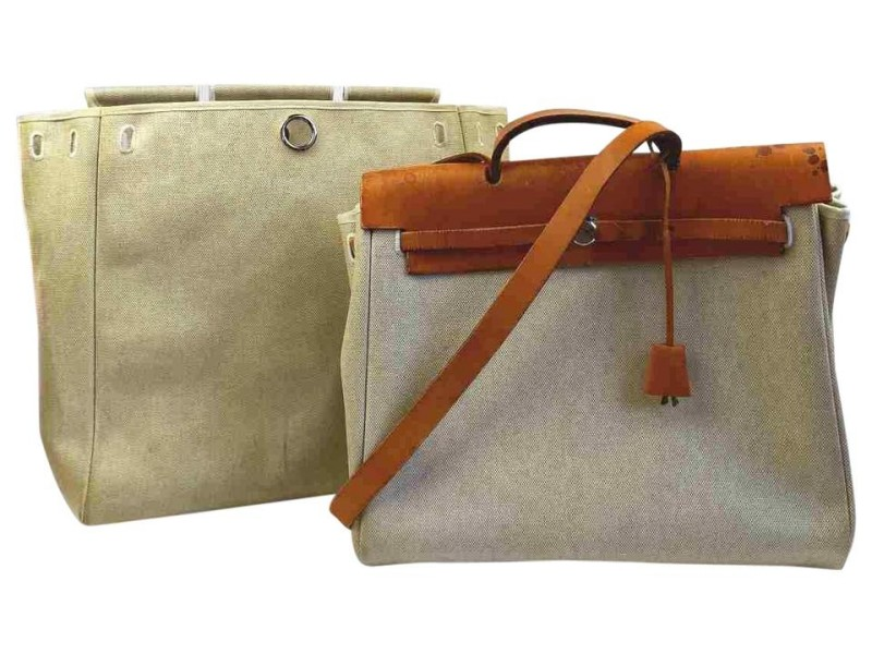 Hermes Herbag 2-in-1 Toile Sac a Dos 855500