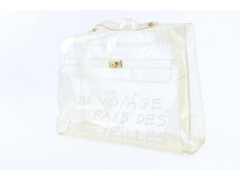HERMÈS Kelly Clear Translucent 1997 Souvenir De L'exposition 9hz0817