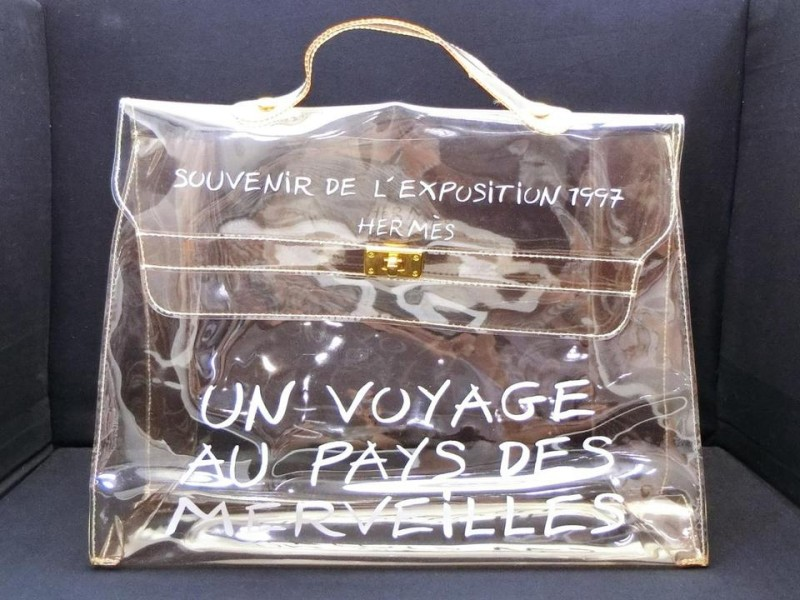 HERMÈS Limited Edition Clear L'Exposition Souvenir Kelly 230483