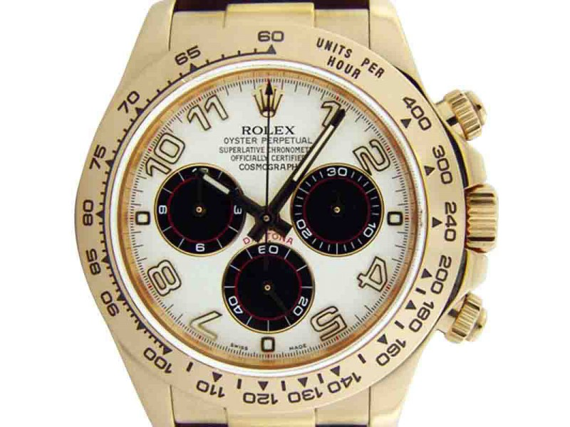 Rolex Cosmograph Daytona 116518 18K Yellow Gold White Dial Watch