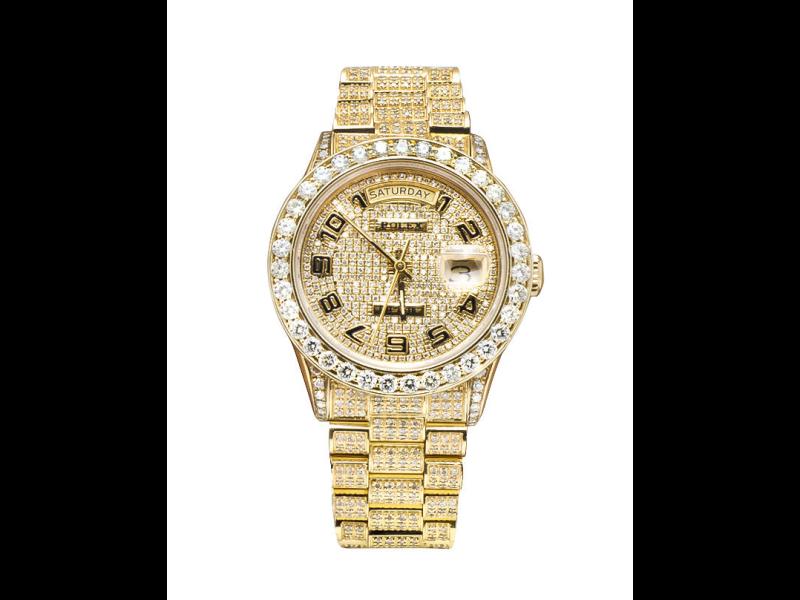 Rolex Presidential 18k Custom Diamond Bezel 36mm