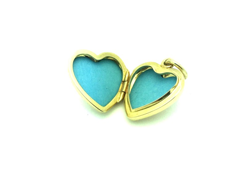 Tiffany & Co. 14K Yellow Gold Retired Heart Locket Pendant