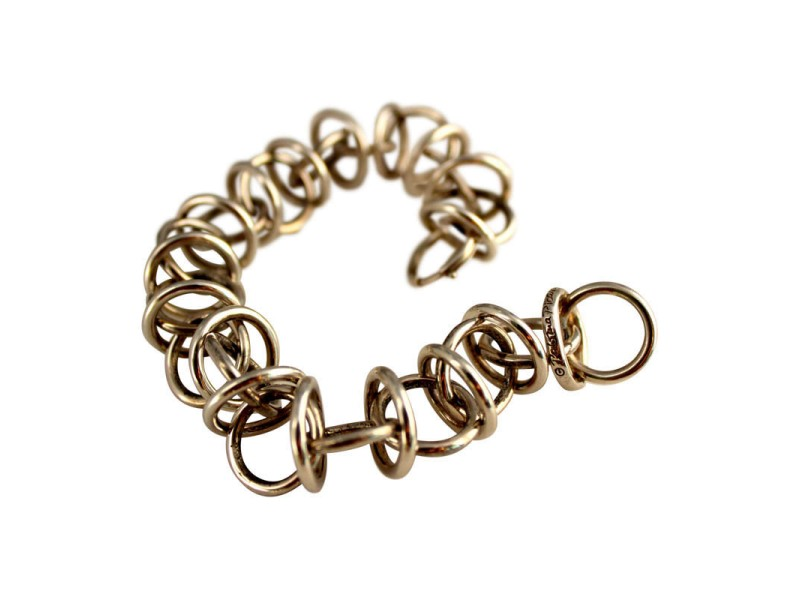 Vintage Tiffany Co Paloma Picasso Sterling Silver Woven Ring Links Bracelet Tiffany Co Buy At Truefacet