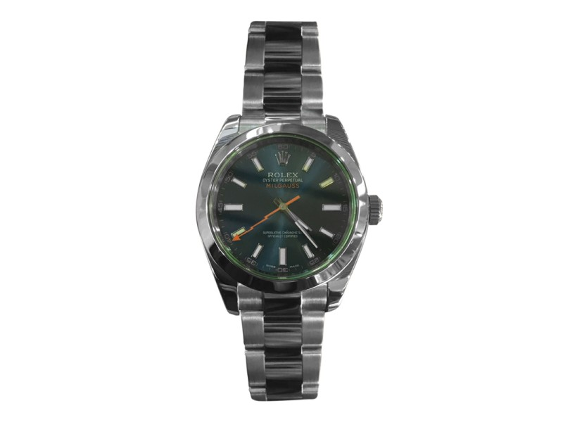 Rolex Milgauss Stainless Steel Green Crystal