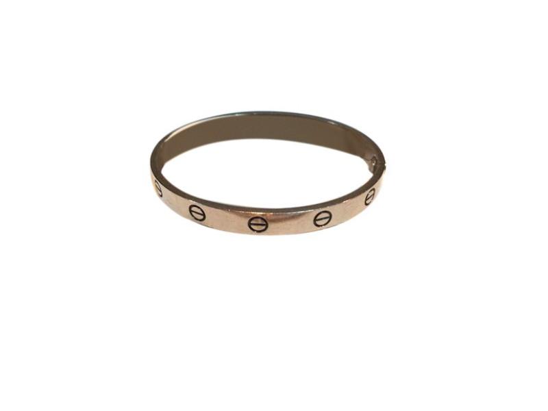 Cartier Love White Gold Bracelet Size 17