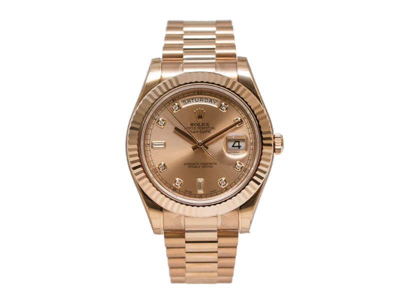 Rolex Day-Date II 218235 CDP Champagne Dial 18K Everose Gold President Automatic Men's Watch