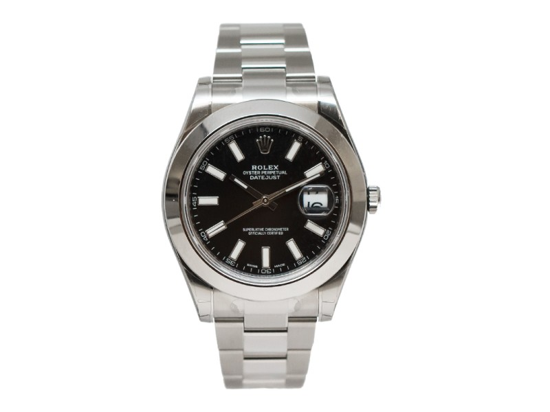 Rolex Datejust II 116300 Stainless Steel Black Index Dial 41mm Watch