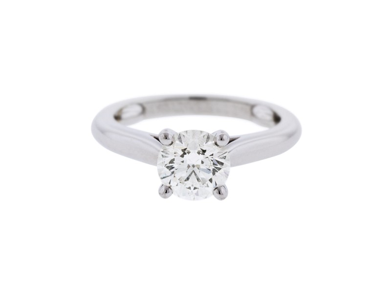 Cartier Platinum 1.13 ct. Round Brilliant Solitaire Engagement Ring