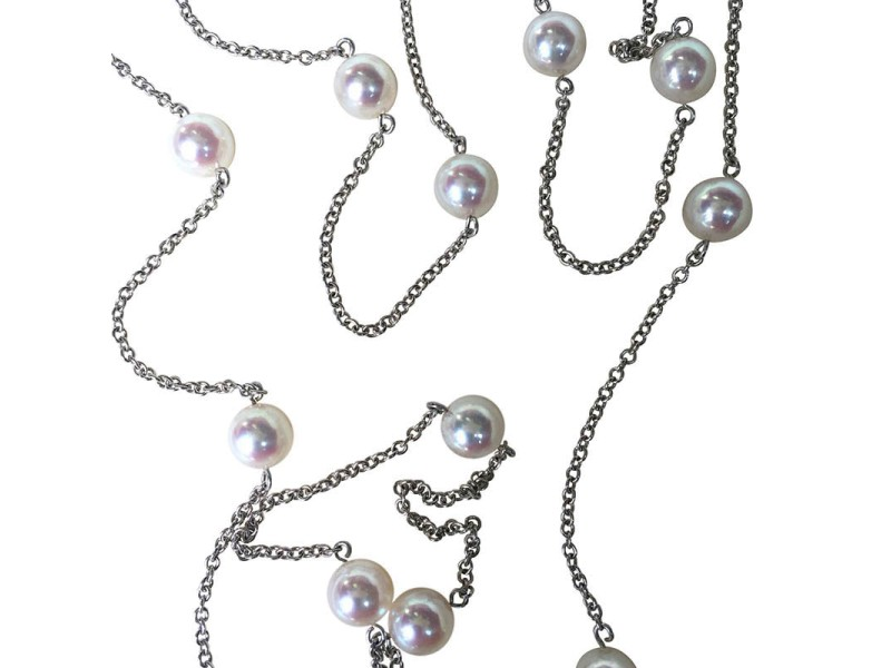 Mikimoto White Gold & Pearl Necklace