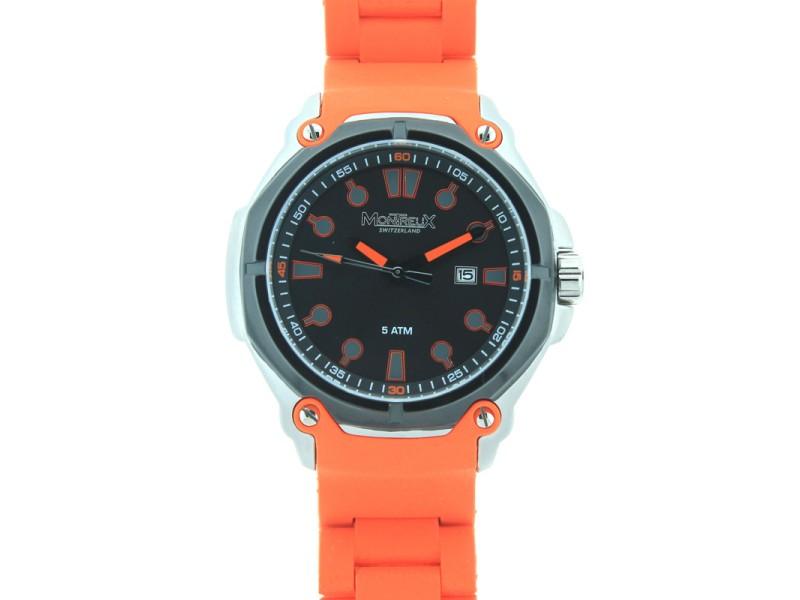 Montreux Ellington Orange Strap Mens Watch