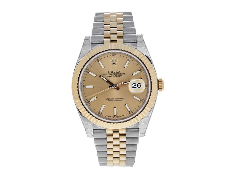 Rolex Two-Tone DateJust II 126333 chij Yellow Gold Champaign Index Dial Watch