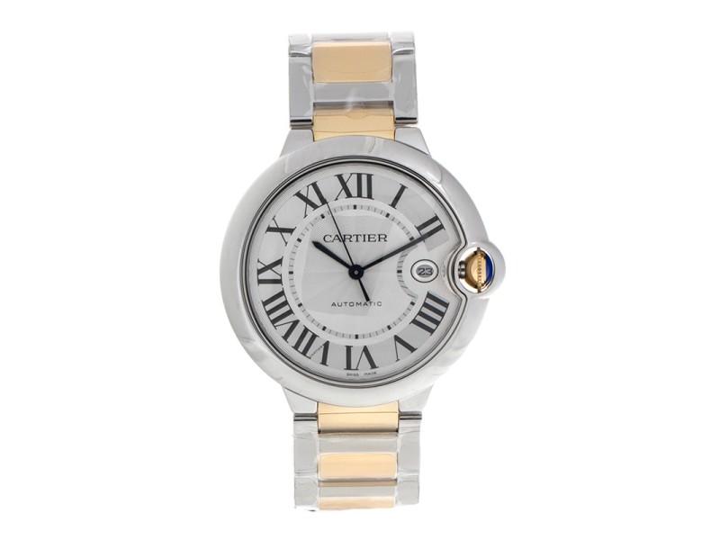 Cartier Ballon Bleu W69009Z3 Yellow Gold & Stainless Steel 42mm Watch
