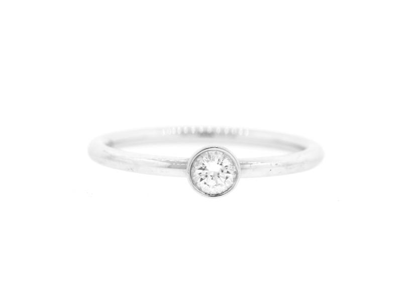 Tiffany & Co. Platinum Bezet Diamond Ring