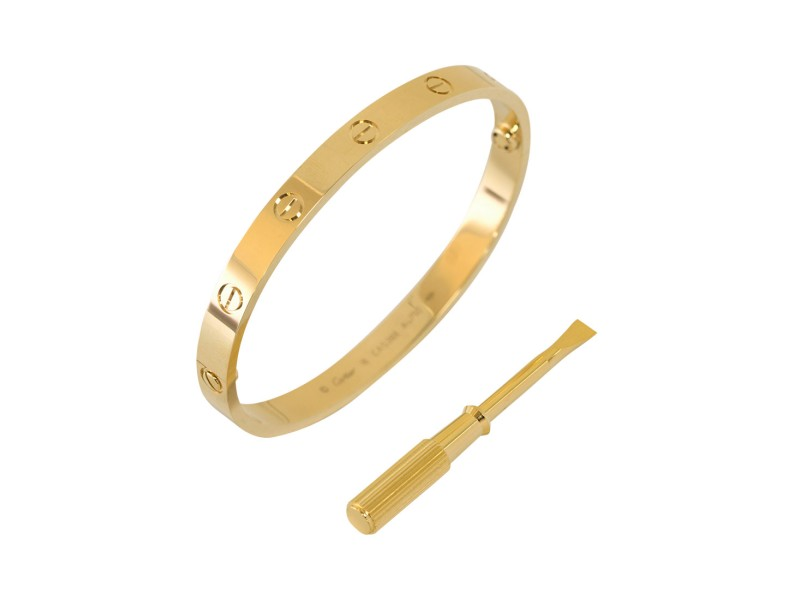 Cartier Love B6035517  Bracelet Yellow Gold Size 18
