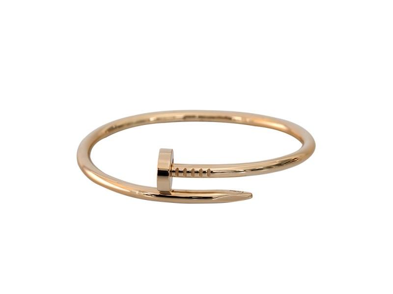 Cartier Juste Un Clou Bracelet Rose Gold Size 17