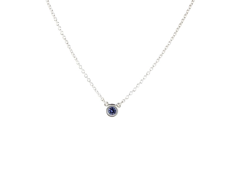 Tiffany & Co. Tanzanite Gemstone Pendant Necklace