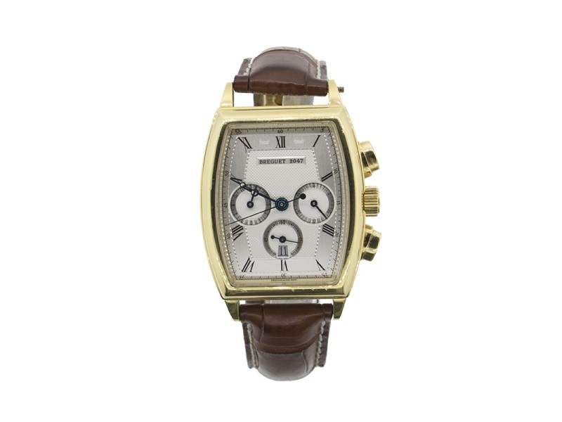 Breguet Heritage Chronograph 5460BB 18k Yellow Gold Mens Watch