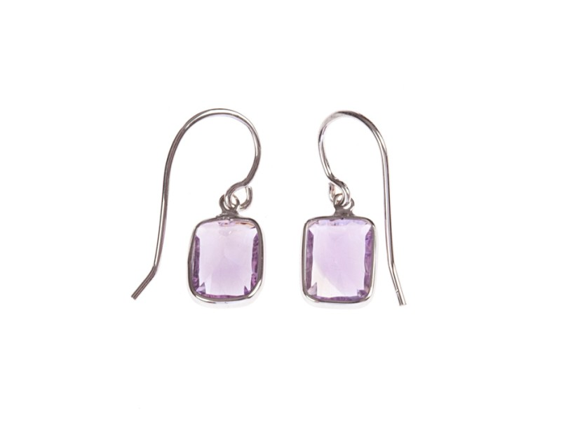 Alberto Juan 14 kt Gold Amethyst Dangle Earrings