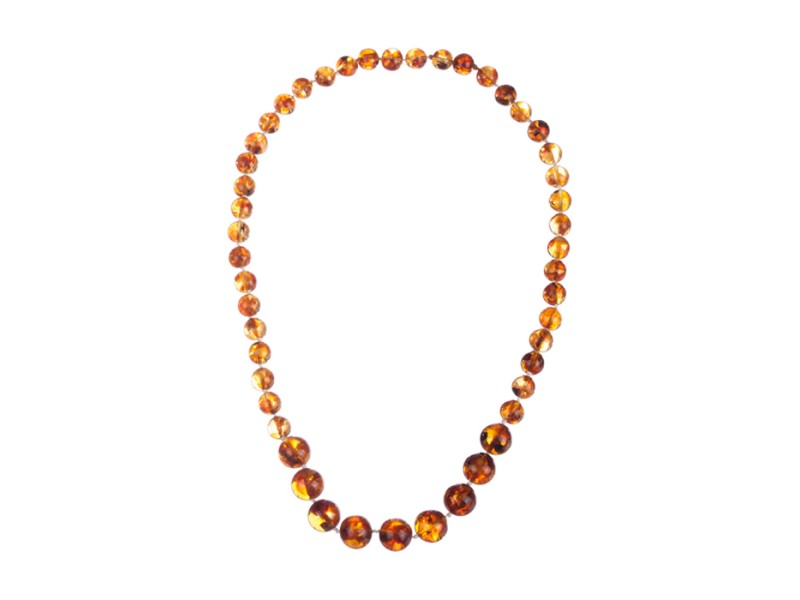 Baltic Amber Round Bead Necklace
