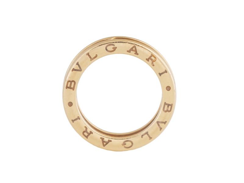 Bvlgari B.Zero1 Band 18K Yellow Gold Ring Size 6.25