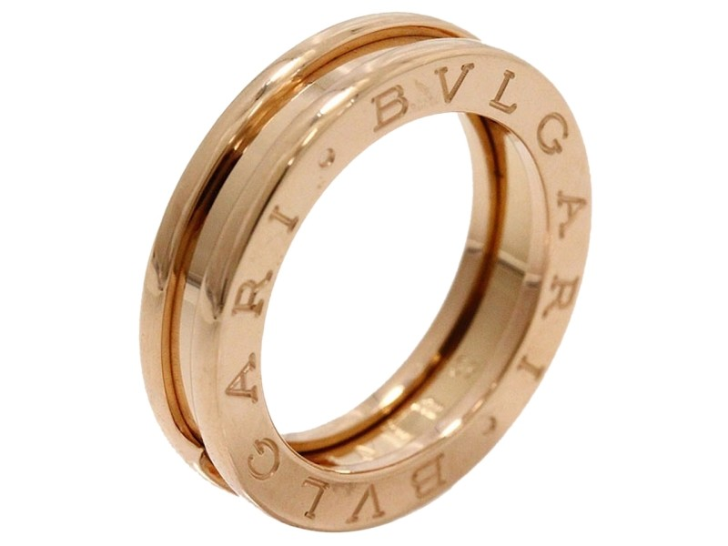 Bulgari 18K Pink Gold zero Band Ring
