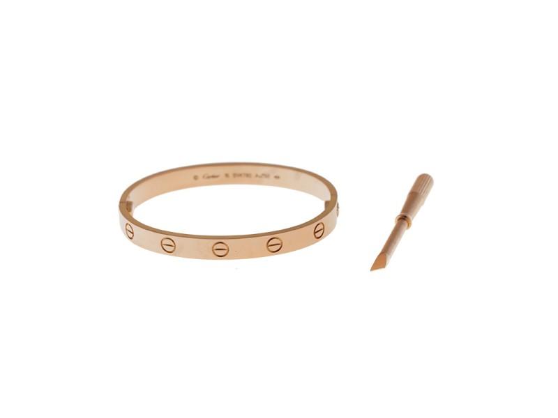 Cartier Love 18k Rose Gold Size 16 Bracelet