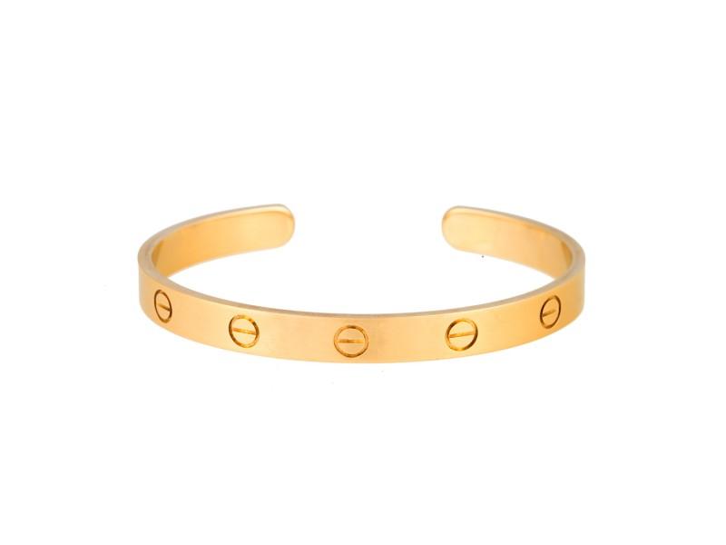 Cartier 18K Yellow Gold Love Cuff Bracelet 17