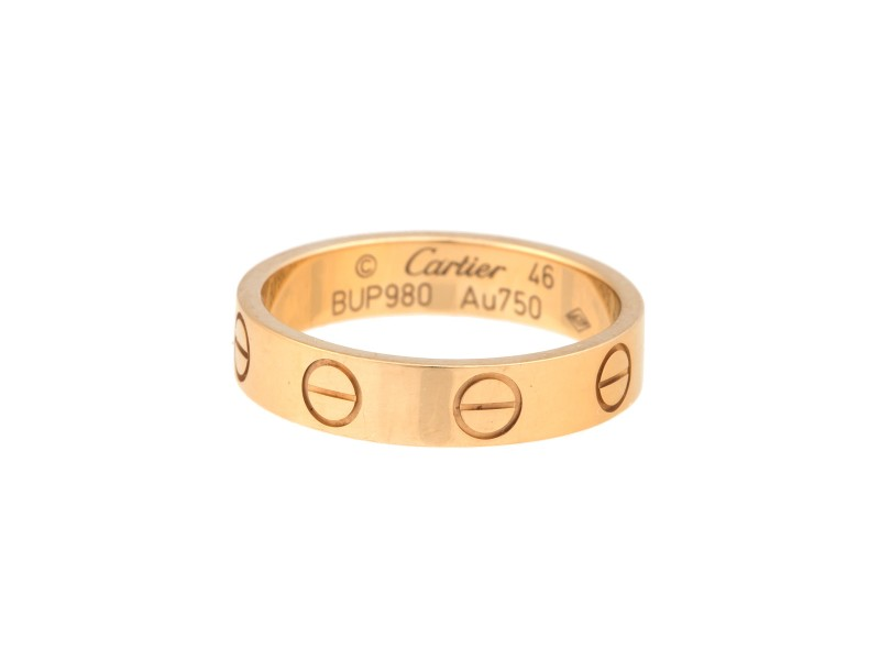 Cartier 18K Yellow Gold Love Band Size 3.75