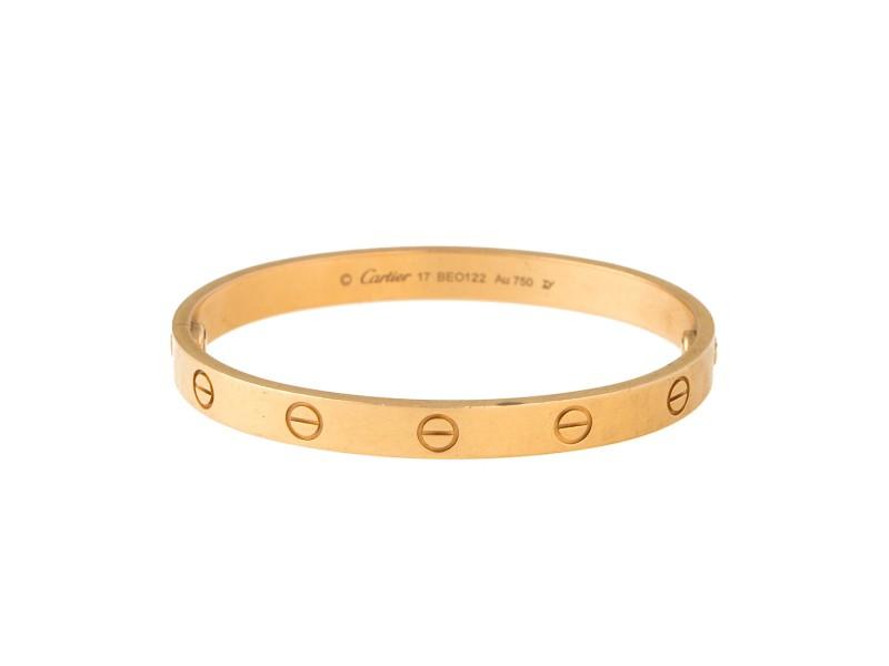 Cartier Love 18K Yellow Gold Bracelet