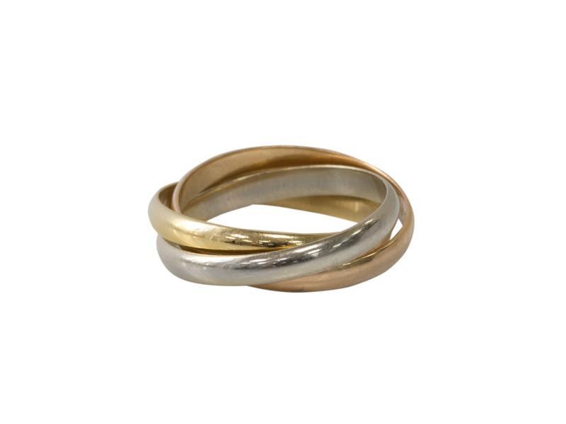 Cartier Trinity 18k Gold Thin Band Ring