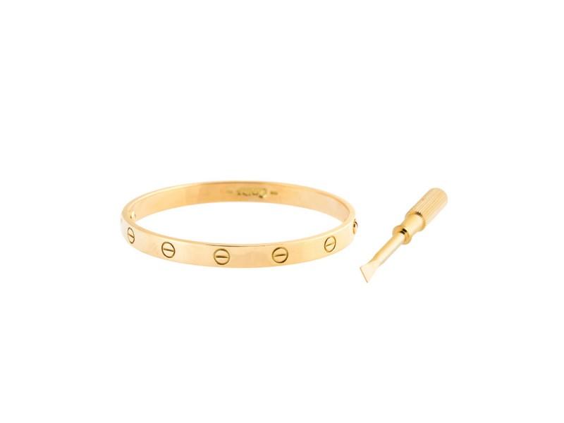 Cartier Love Bracelet 18K Yellow Gold Size 18.0