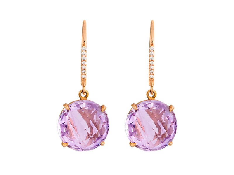 amethyst earrings and the france silver forge rose aquamarine de