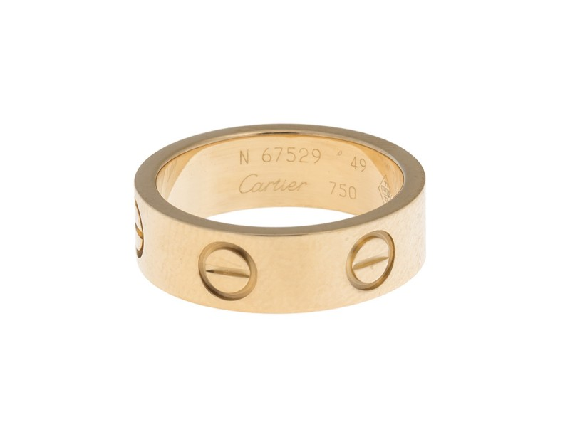 Cartier 18K Yellow Gold Love Ring Size 4.75