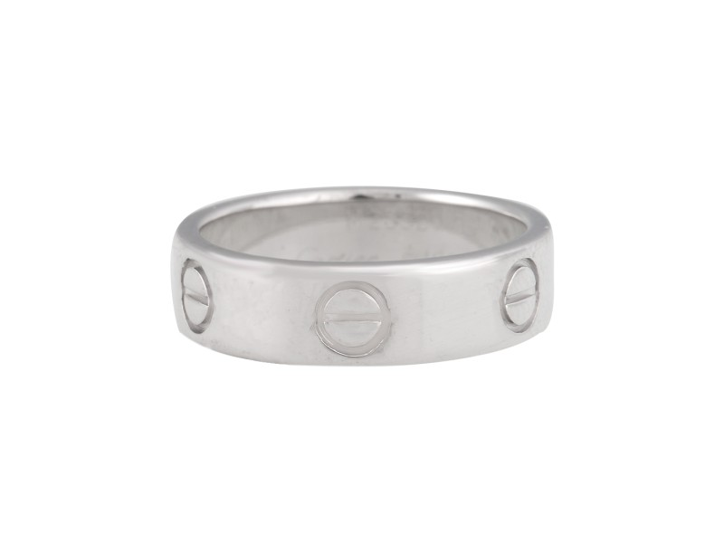 Cartier White Gold Love Ring 6.25
